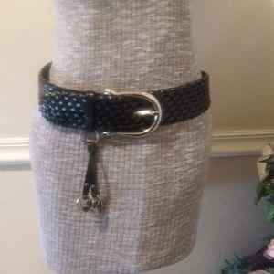 NWOT Michael Kors Black Woven Leather Belt